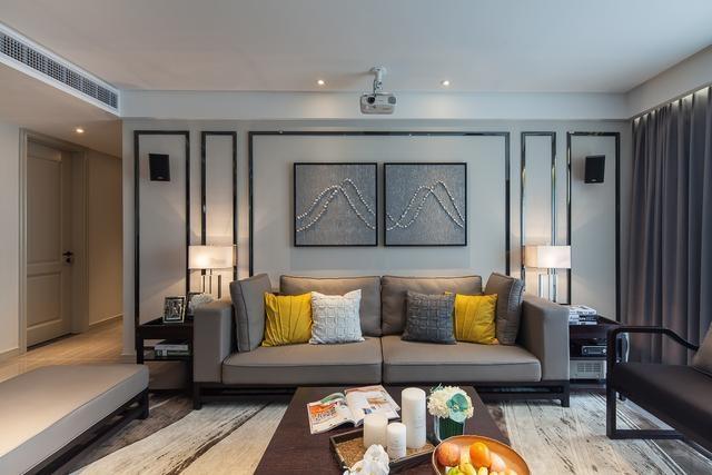 客厅图片来自我是小样在中建昆明澜庭三室98平现代简约的分享