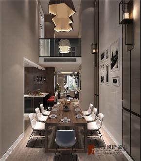 北欧 四居 大户型 复式 跃层 80后 小资 餐厅图片来自高度国际姚吉智在190平米北欧宁静淡然原生态之美的分享