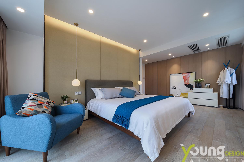 简约 二居 小资 卧室图片来自漾设计在漾设计-山间新雨-深圳云景梧桐的分享