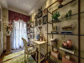 美式 三居 大户型 复式 跃层 80后 小资 书房图片来自高度国际姚吉智在156平米美式复古乡村自然古朴的分享