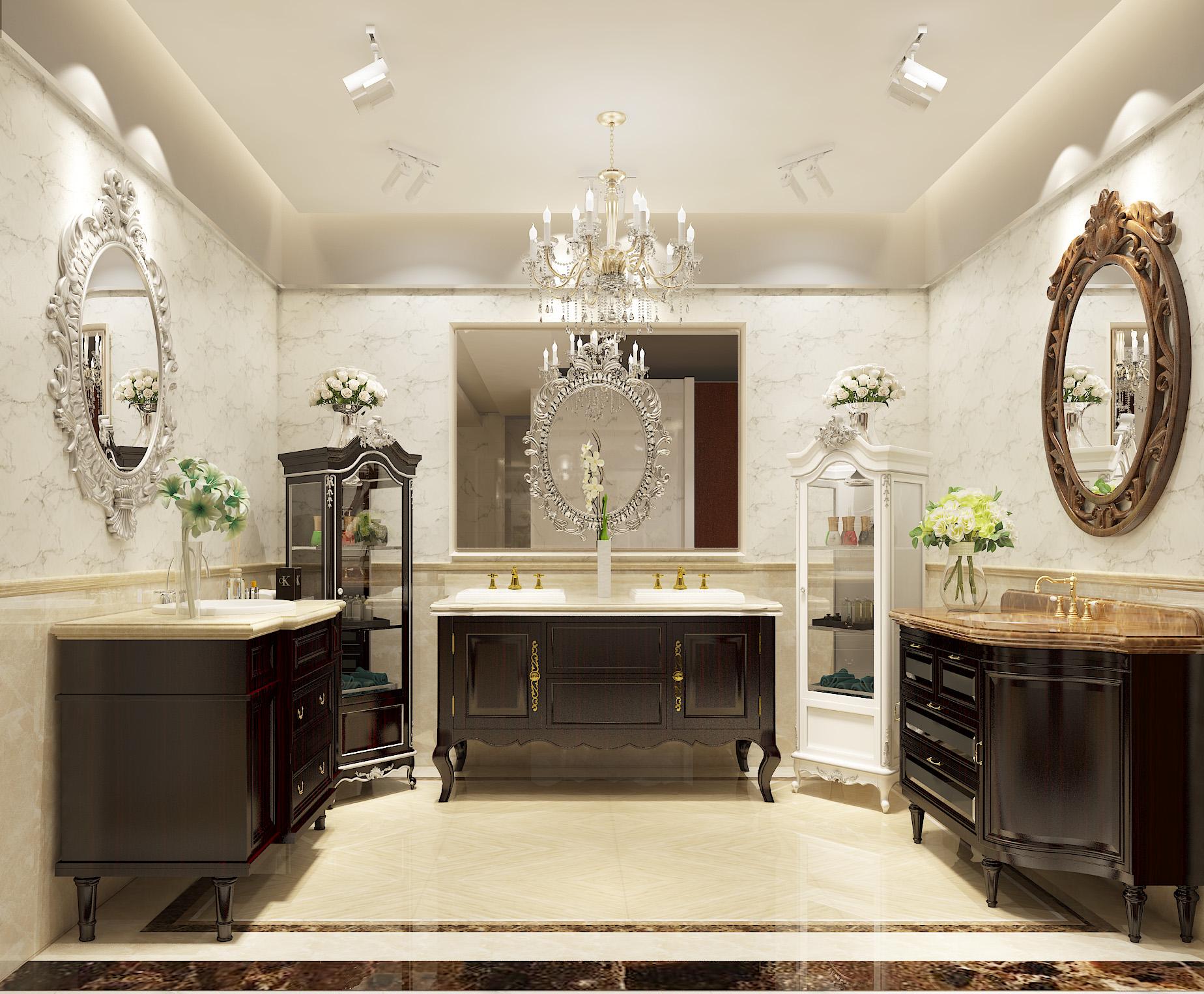 简约 混搭 白领 卫生间图片来自圣奇凯尚室内设计工作室在高端卫浴柜弗洛迪展厅设计的分享