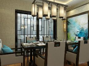 新中式 中式 三居 白领 小资 餐厅图片来自阳光放扉er在力天装饰-时光里-121㎡-新中式的分享