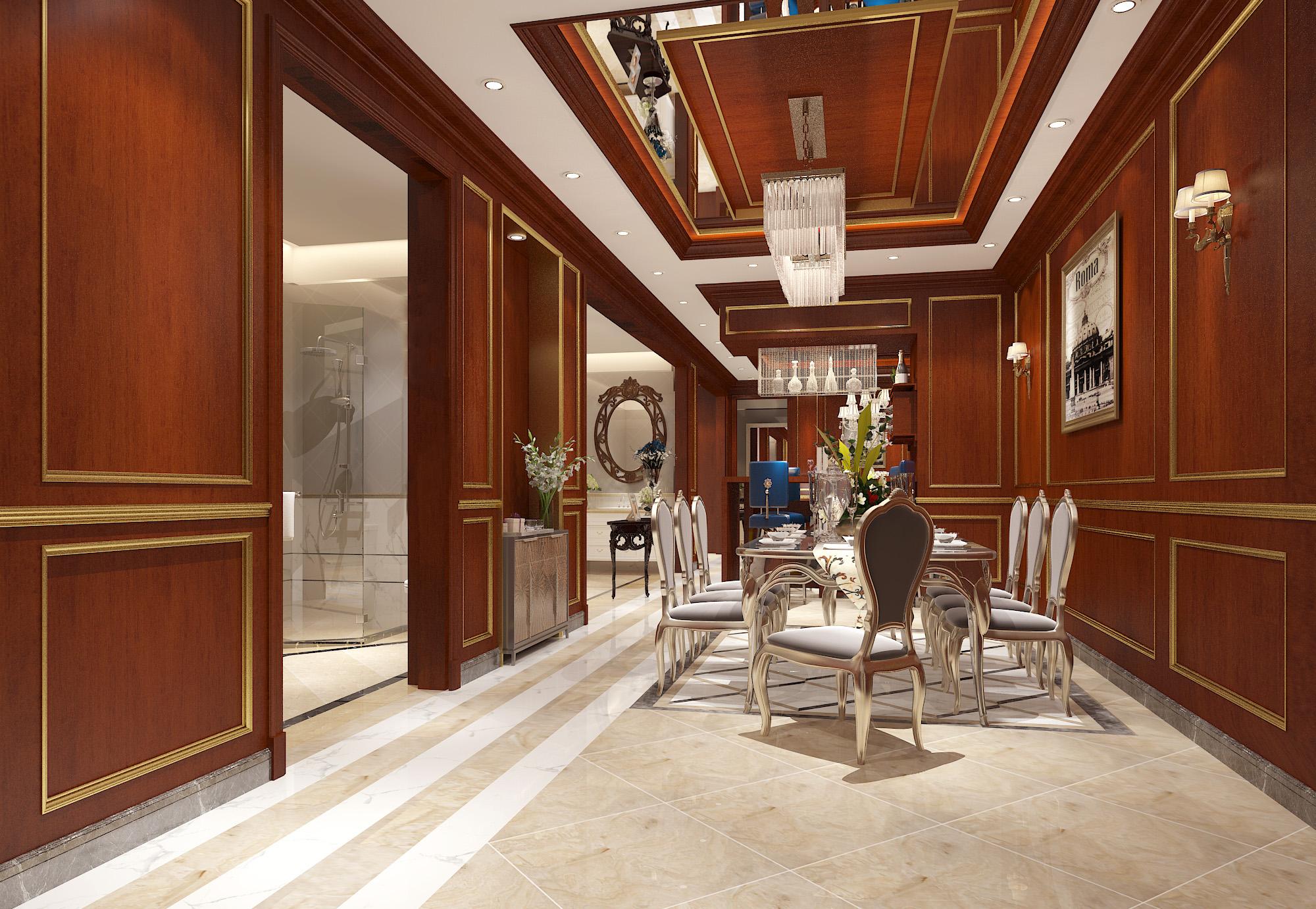 简约 混搭 白领 餐厅图片来自圣奇凯尚室内设计工作室在高端卫浴柜弗洛迪展厅设计的分享
