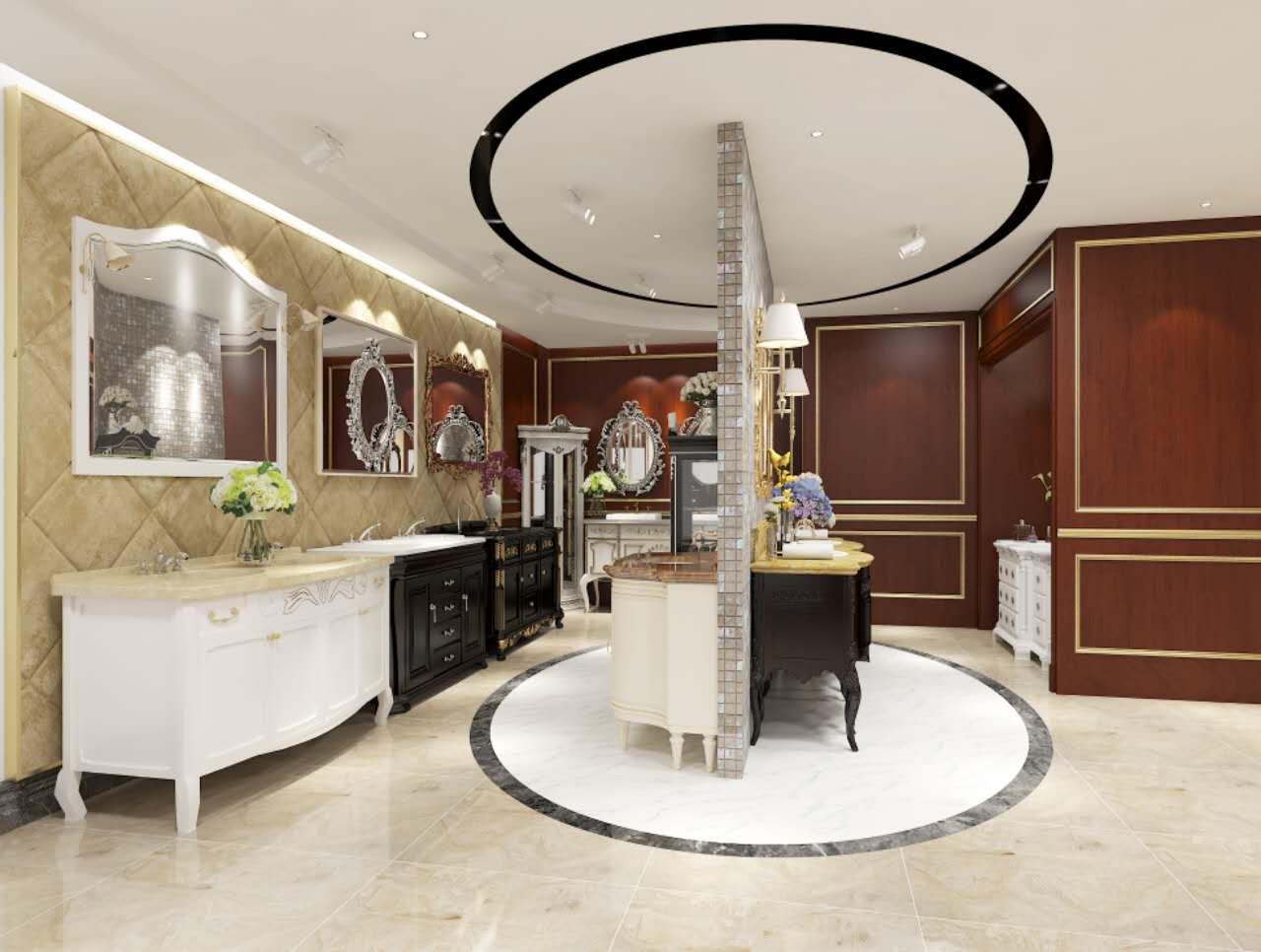 混搭 白领 小资 卫生间图片来自圣奇凯尚室内设计工作室在高端卫浴柜弗洛迪展厅设计二的分享