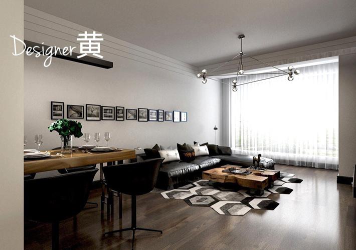 二居 紫荆公馆 现代简约 客厅图片来自百家设计小刘在保利紫荆公馆78平现代简约的分享