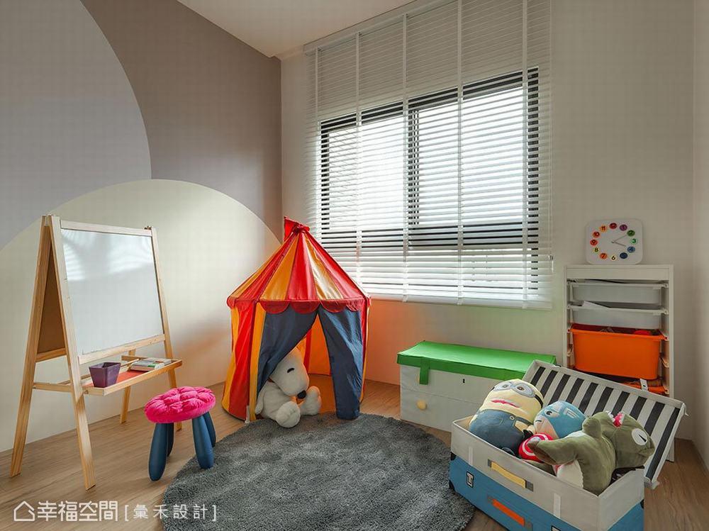 儿童房图片来自幸福空间在轻柔北欧 99平唯美清透日光居的分享