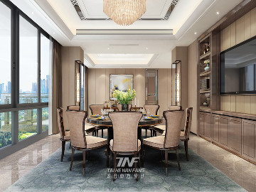 深圳红树西岸豪宅-后现代轻奢