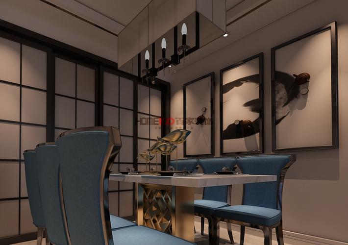 三居 格林玫瑰湾 新中式风格 餐厅图片来自百家设计小刘在格林玫瑰湾126平新中式风格的分享