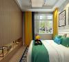 卧室说明,简约风格卧室装饰设计受现代的绘画流派影响很大,通过强调原色之间的对比协调来追求一种具有普遍意义的永恒,床,床头柜的选择对整体的色彩效果也起到了点明主题的作用。