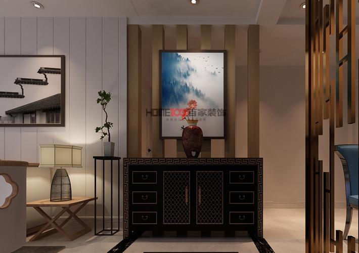 三居 格林玫瑰湾 新中式风格 客厅图片来自百家设计小刘在格林玫瑰湾126平新中式风格的分享