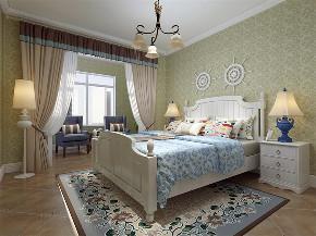 地中海 三居室 瑞园小区 卧室图片来自阳光力天装饰在瑞园小区-130平-地中海风格的分享