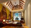 卧室的设计延续客厅的大面大线条的手法,是采用线面面结合的方法,运用颜色的跳跃和鲜明的色彩关系,突出风格。总体设计符合大众购买欲。