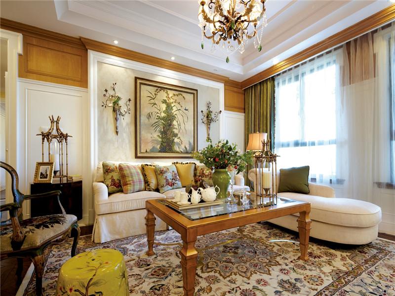 欧式 三居 大户型 白领 80后 小资 收纳 客厅图片来自高度国际姚吉智在140平米欧式骨子里的优雅与尊贵的分享