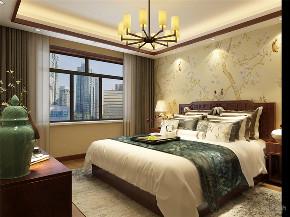 中式 新中式 四居 白领 小资 卧室图片来自阳光放扉er在力天装饰-原乡郡-123㎡-中式的分享
