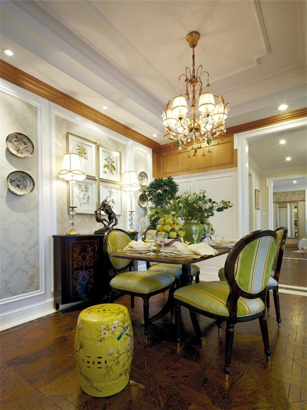 欧式 三居 大户型 白领 80后 小资 收纳 餐厅图片来自高度国际姚吉智在140平米欧式骨子里的优雅与尊贵的分享