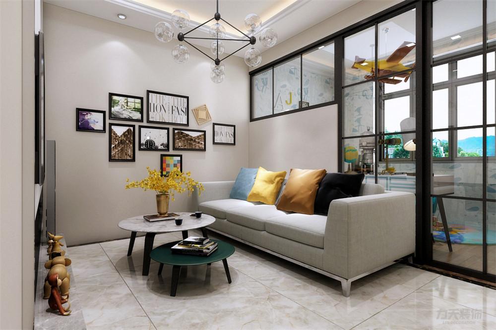 简约 现代 二居 收纳 小资 客厅图片来自阳光放扉er在力天装饰-育才里-72㎡-现代简约的分享