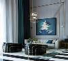 艺术玻璃屏风也是设计师所特别打造的亮点之一,当代设计的无限魅力,在于天马行空般的艺术创新。