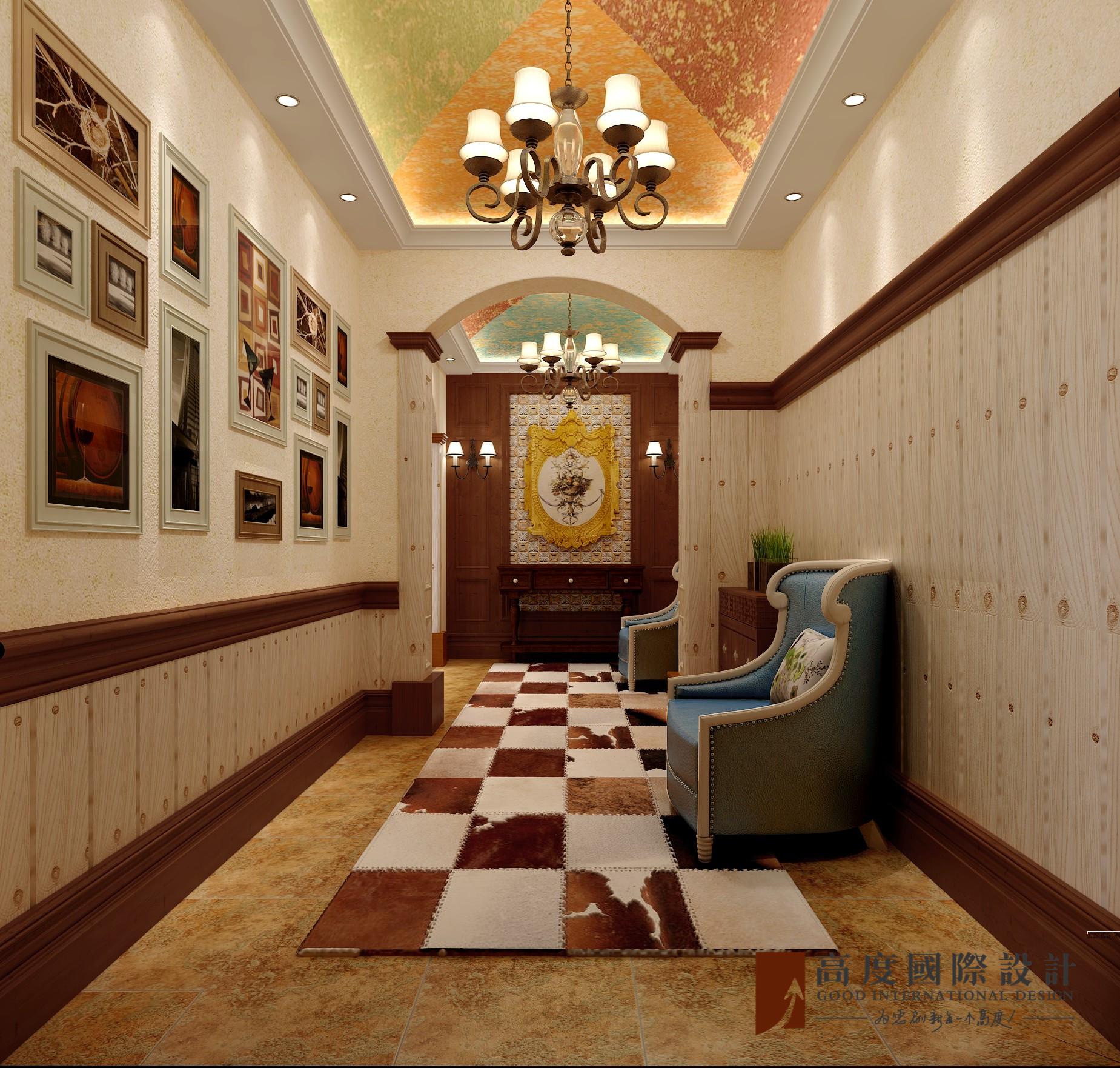 美式 别墅 大户型 跃层 复式 小资 80后 玄关图片来自高度国际姚吉智在304平米美式乡村经典独栋别墅的分享