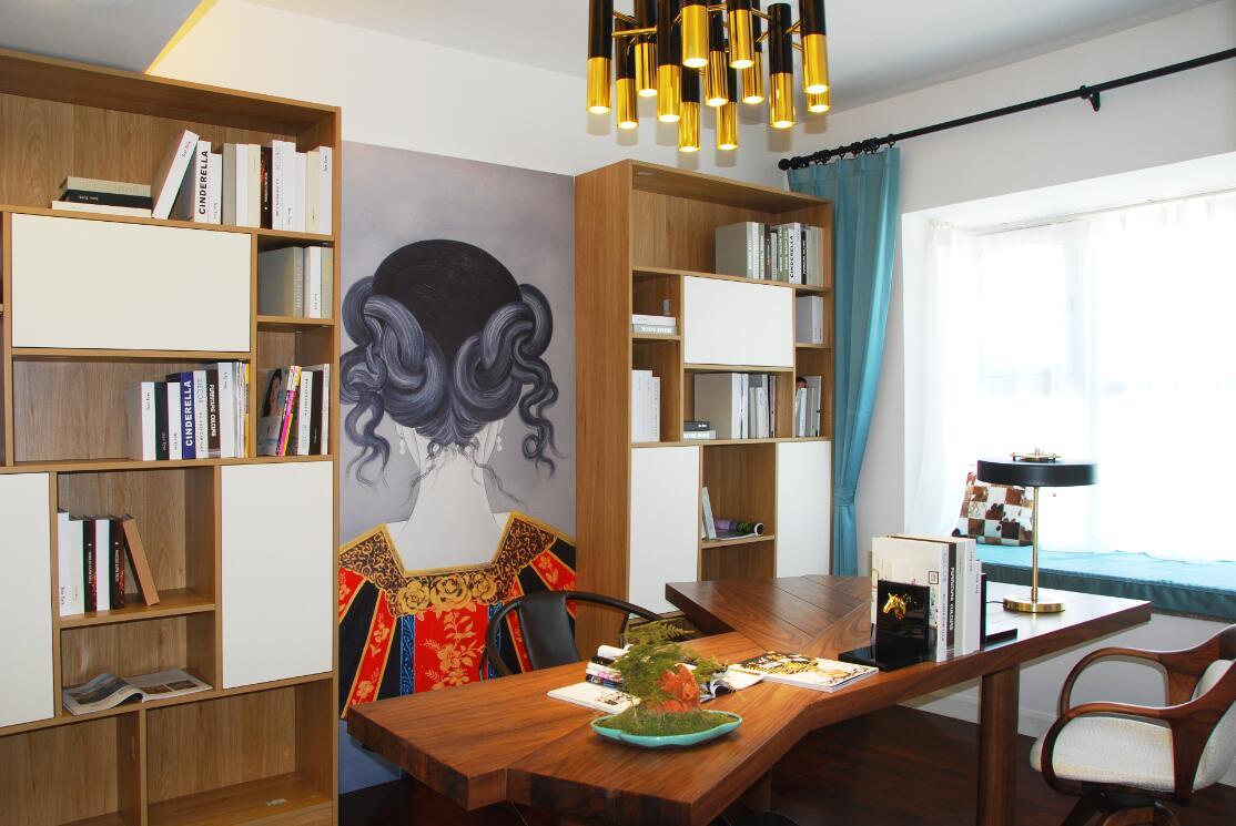 简约 现代 誉天下 别墅 小资 80后 书房图片来自别墅设计师杨洋在誉天下别墅软装设计现代休闲风格的分享
