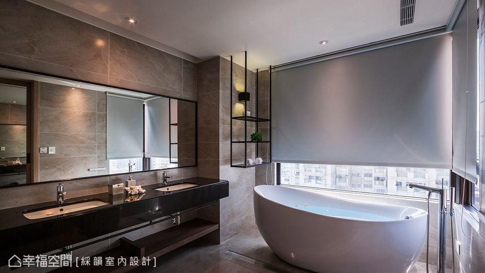 三居 现代 大户型 卫生间图片来自幸福空间在多元材质运用 363平现代人文宅的分享