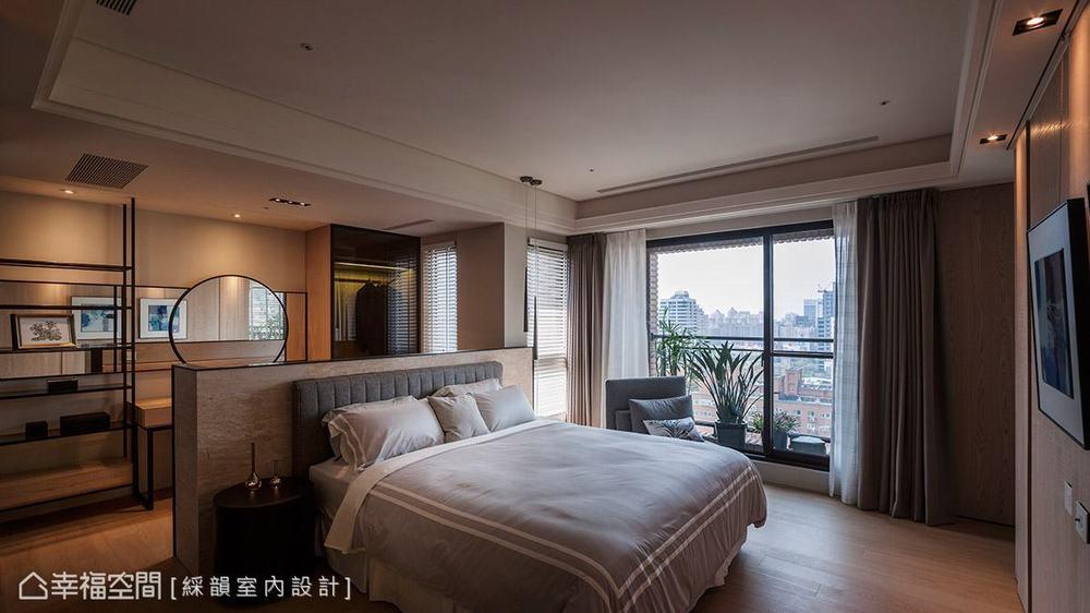 三居 现代 大户型 卧室图片来自幸福空间在多元材质运用 363平现代人文宅的分享