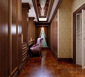 美式 别墅 大户型 跃层 复式 小资 80后 衣帽间图片来自高度国际姚吉智在304平米美式乡村经典独栋别墅的分享
