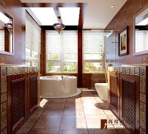 美式 别墅 大户型 跃层 复式 小资 80后 卫生间图片来自高度国际姚吉智在304平米美式乡村经典独栋别墅的分享