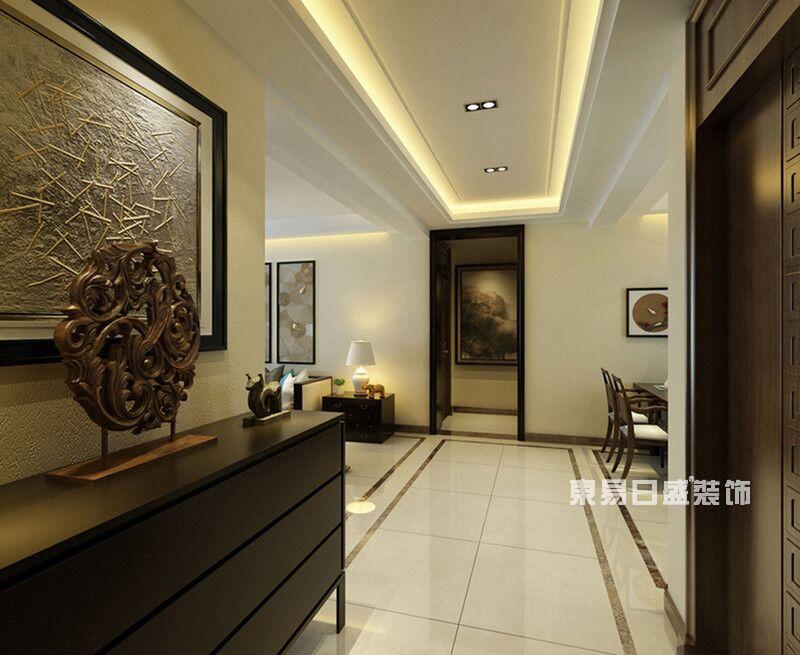 新中式 东易日盛 新房装修 装修 案例 玄关图片来自重庆东易日盛装饰在重庆鲁能星城+120平米新中式的分享