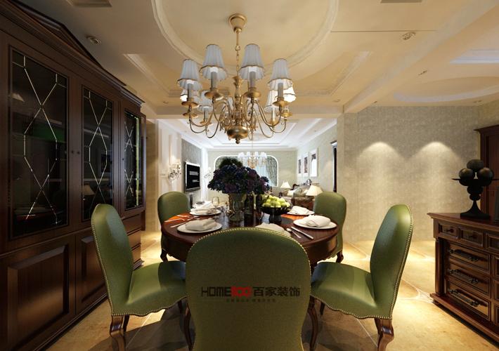 名流印象 美式风格 沈阳装修 餐厅图片来自百家设计小刘在龙湖唐宁one83平现代简约半包3万的分享