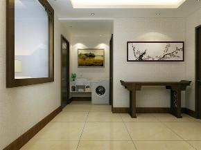 中式 新中式 二居 收纳 小资 玄关图片来自阳光力天装饰在力天装饰-北洋花园-81㎡-新中式的分享