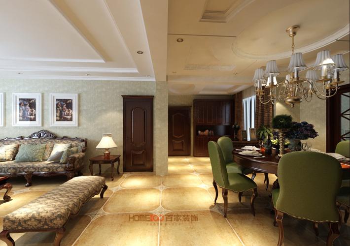 名流印象 美式风格 沈阳装修 客厅图片来自百家设计小刘在龙湖唐宁one83平现代简约半包3万的分享