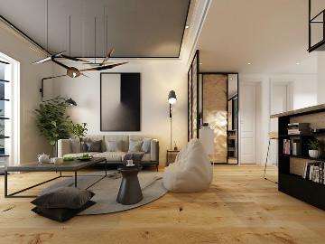 悦美国际三室116平现代简约风格