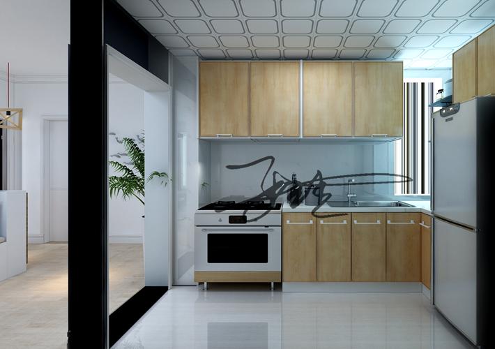 三居 茉莉公馆 现代风格 厨房图片来自百家设计小刘在保利茉莉公馆104平现代简约风格的分享
