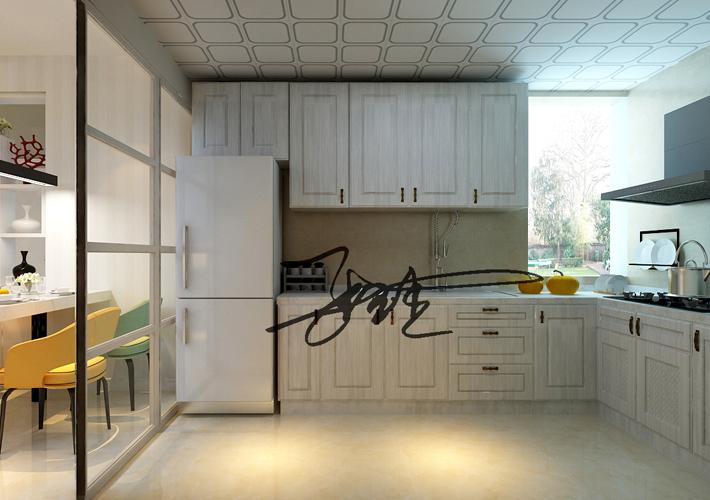二居 宏发英树 现代简约 厨房图片来自百家设计小刘在宏发英树92平现代简约半包3.4万的分享