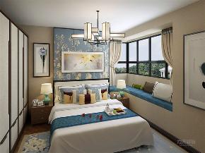 中式 新中式 三居 白领 小资 卧室图片来自阳光放扉er在力天装饰-锦绣学府-110㎡- 中式的分享