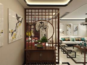 中式 新中式 三居 白领 小资 玄关图片来自阳光放扉er在力天装饰-锦绣学府-110㎡- 中式的分享
