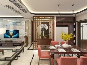 中式 新中式 三居 白领 小资 餐厅图片来自阳光放扉er在力天装饰-锦绣学府-110㎡- 中式的分享