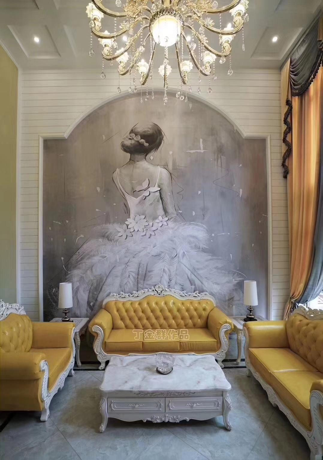 别墅 客厅图片来自金煌装饰有限公司在大女主时代简欧风格的分享