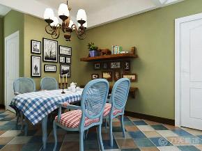 地中海 二居 白领 收纳 小资 餐厅图片来自阳光放扉er在力天装饰-华城领秀91㎡-地中海的分享