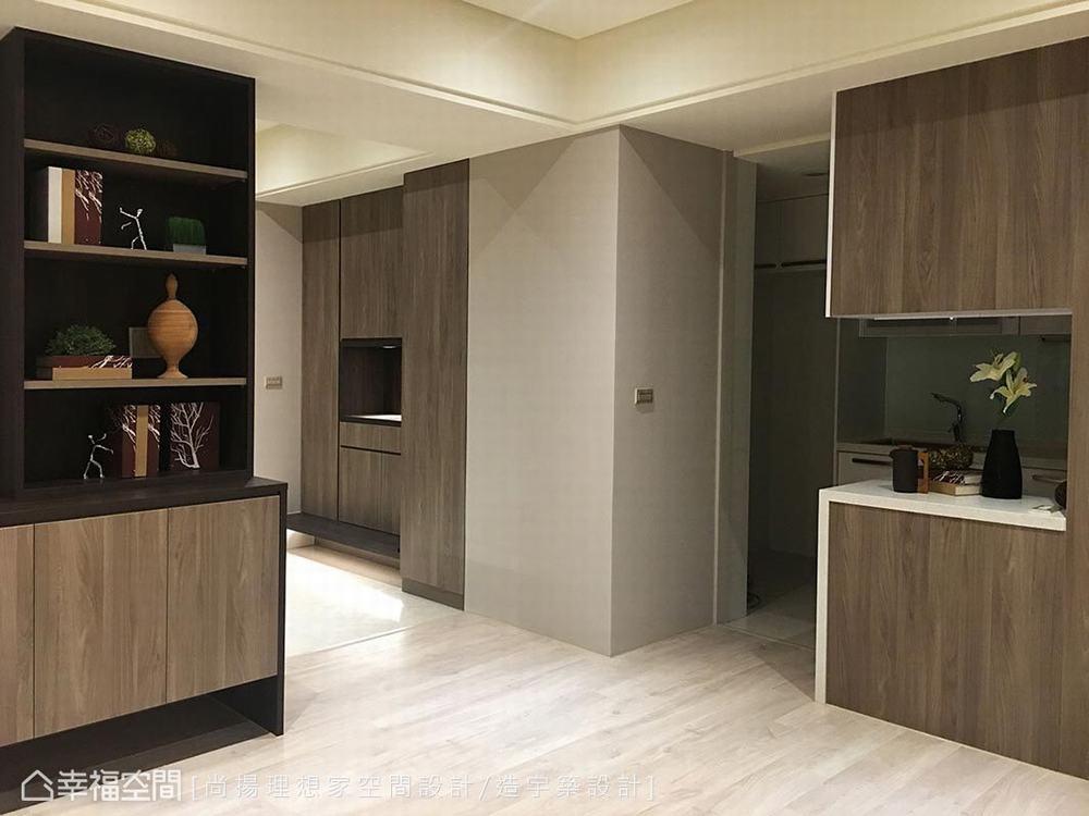 三居 休闲 玄关图片来自幸福空间在改写系统柜印象 92平人文休闲宅的分享