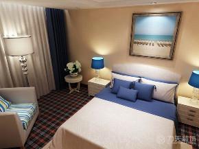 地中海 二居 白领 收纳 小资 卧室图片来自阳光放扉er在力天装饰-华城领秀91㎡-地中海的分享