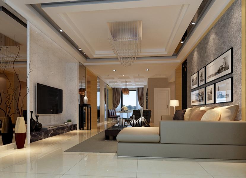 客厅图片来自我是小样在青城三室116平现代简约风格的分享