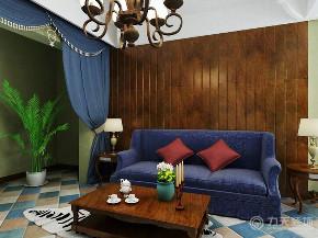 地中海 二居 白领 收纳 小资 客厅图片来自阳光放扉er在力天装饰-华城领秀91㎡-地中海的分享