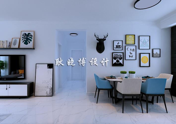 三居 深航翡翠城 现代简约 餐厅图片来自百家设计小刘在深航翡翠城130平现代简约半包5万的分享