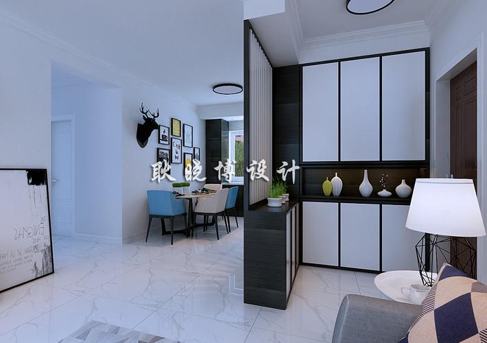 三居 深航翡翠城 现代简约 客厅图片来自百家设计小刘在深航翡翠城130平现代简约半包5万的分享