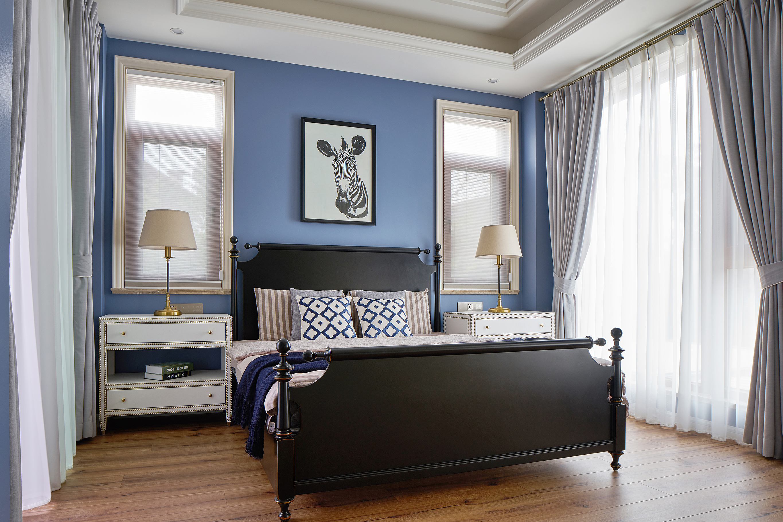欧式 别墅 卧室图片来自尚舍设计在半山,把自然还给生活。的分享