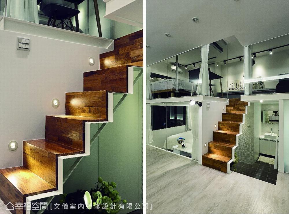 二居 小户型 混搭 跃层 楼梯图片来自幸福空间在透亮生活 52平小剧场的分享