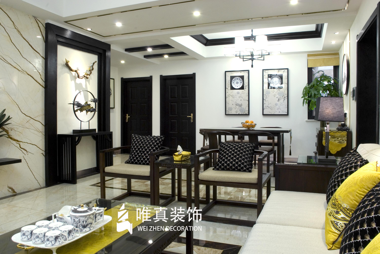 四居 中式 客厅图片来自唯真装饰在大华南湖公园世家新中式风的分享