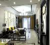 餐厅和客厅一体,自然实木,新中式家具运用天然材质,塑造出精简造型。