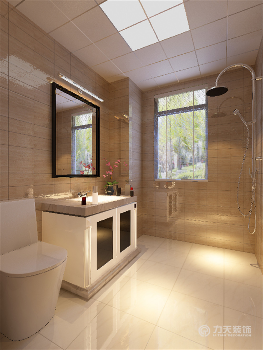 简约 现代 三居 白领 收纳 80后 卫生间图片来自阳光放扉er在力天-津南新城120㎡-现代简约的分享